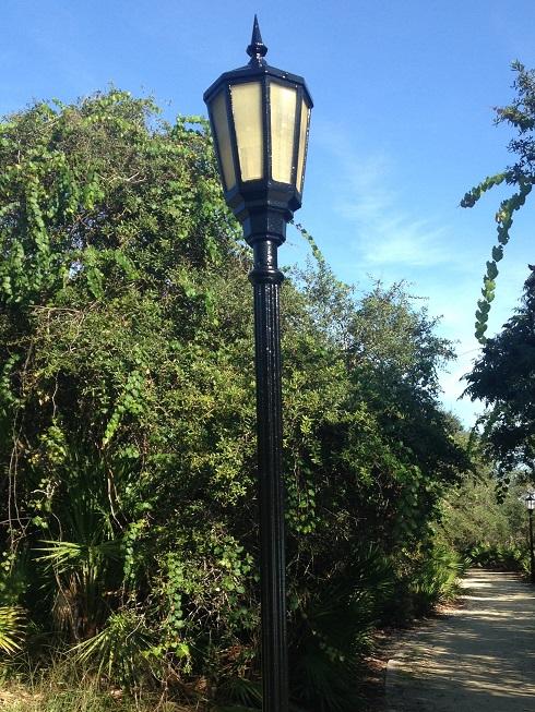 New Concrete Light Pole : Painting light poles
